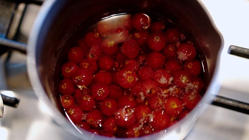 riduzione ribes salsa