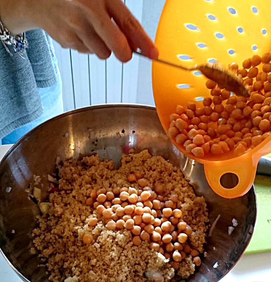 preparazione quinoa e ceci