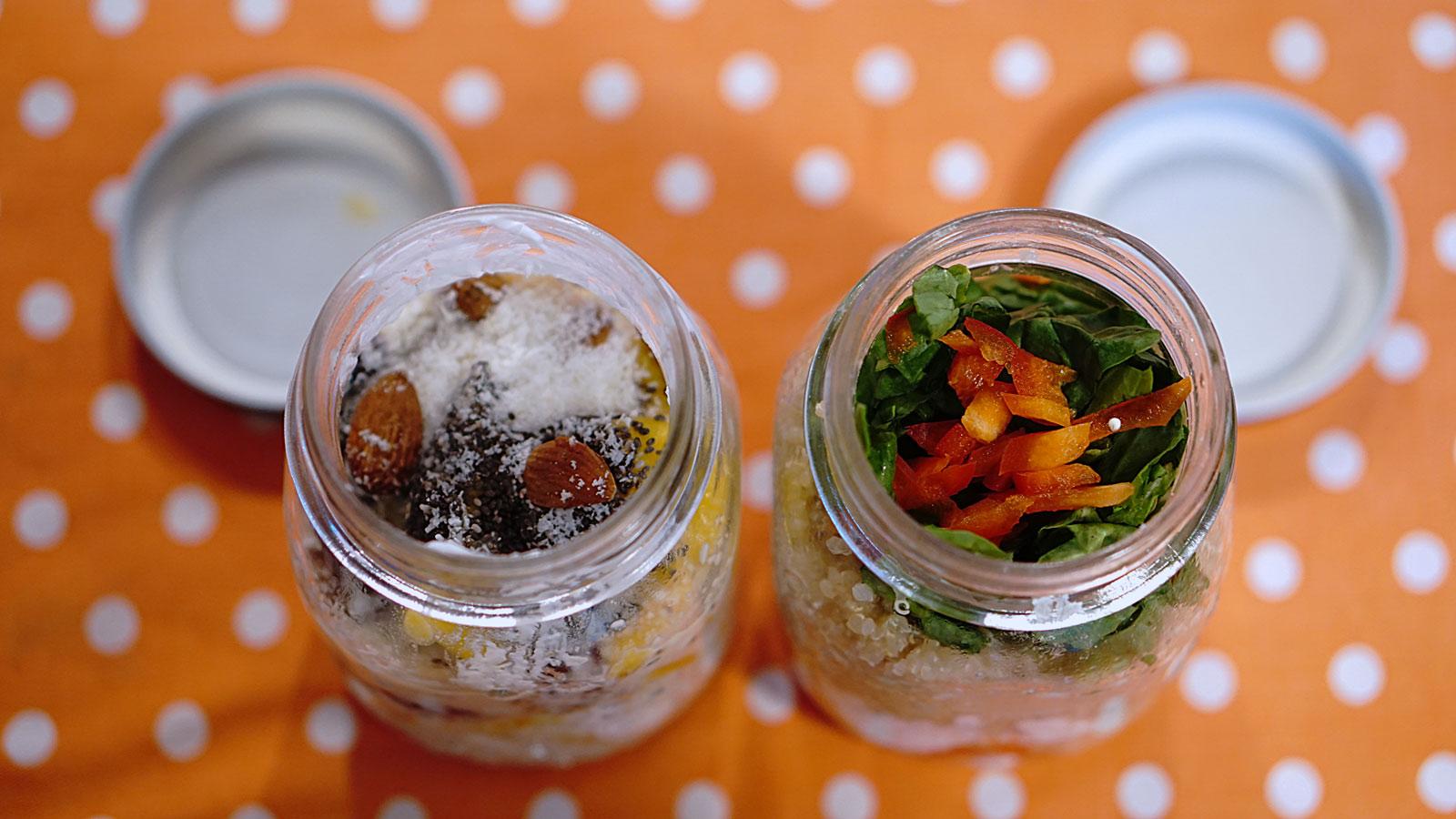 work jar. Il pasto sano in barattolo.